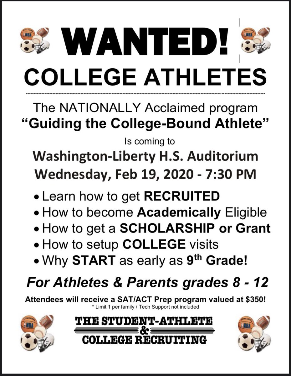 8th grade athletes and parents... You don't want to miss this event. <a target='_blank' href='https://t.co/qQwK6dpvn9'>https://t.co/qQwK6dpvn9</a>