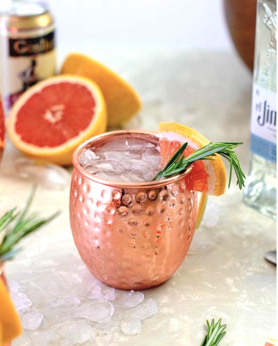 test Twitter Media - Tasty looking drink by @midwestniceblog  Paloma Mule  2-3oz Goslings Ginger Beer  1.5 oz el Jimador tequila  1/2 oz lime juice  1/2oz grapefruit juice  3/4 oz agave nectar  Garnish with grapefruit wedge & rosemary   #goslingsrum https://t.co/eyVfPu2zS2