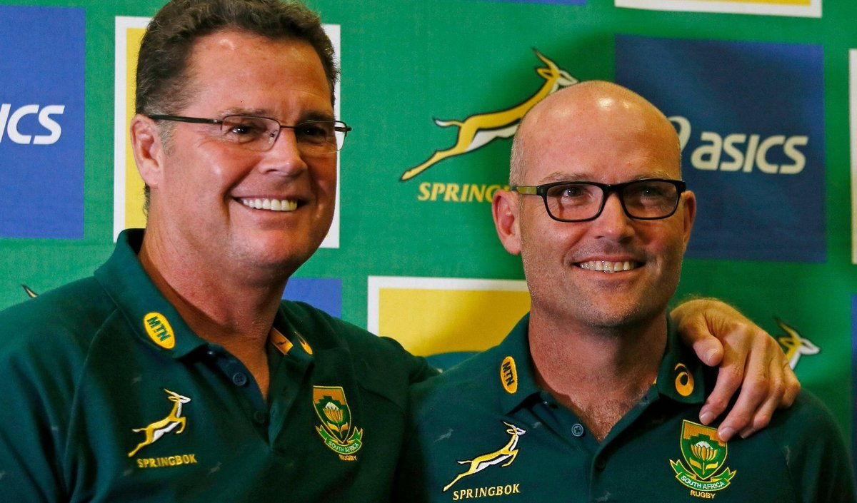 World champions South Africa have a new head coach. 🇿🇦Jacques Nienaber replaces World Cup-winning boss Rassie Erasmus who returns to the role of director of rugby.More 👉https://bbc.in/38FtXNJ