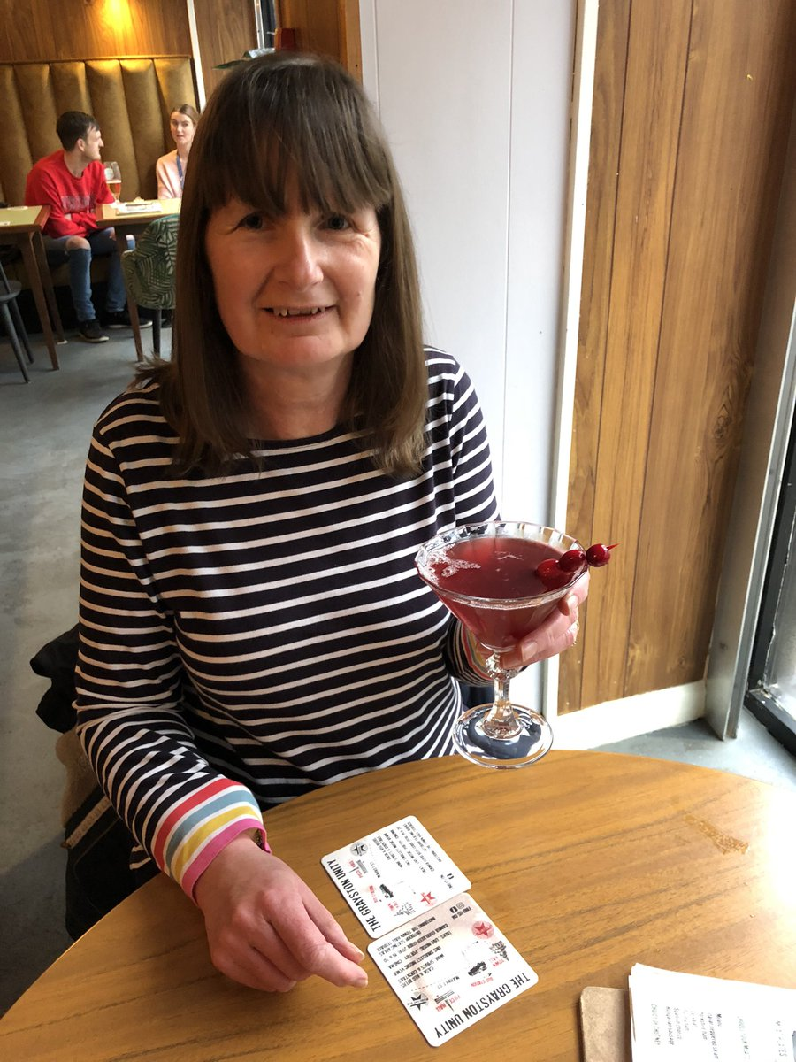 The very first Suffragette cocktail in the @BearMeandering in support of the Wonens Centre. #FridayFeeling