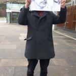 A one man protest outside The Scottish Parliament!  #FreeAssange  @wattland1  @ScotsDefend