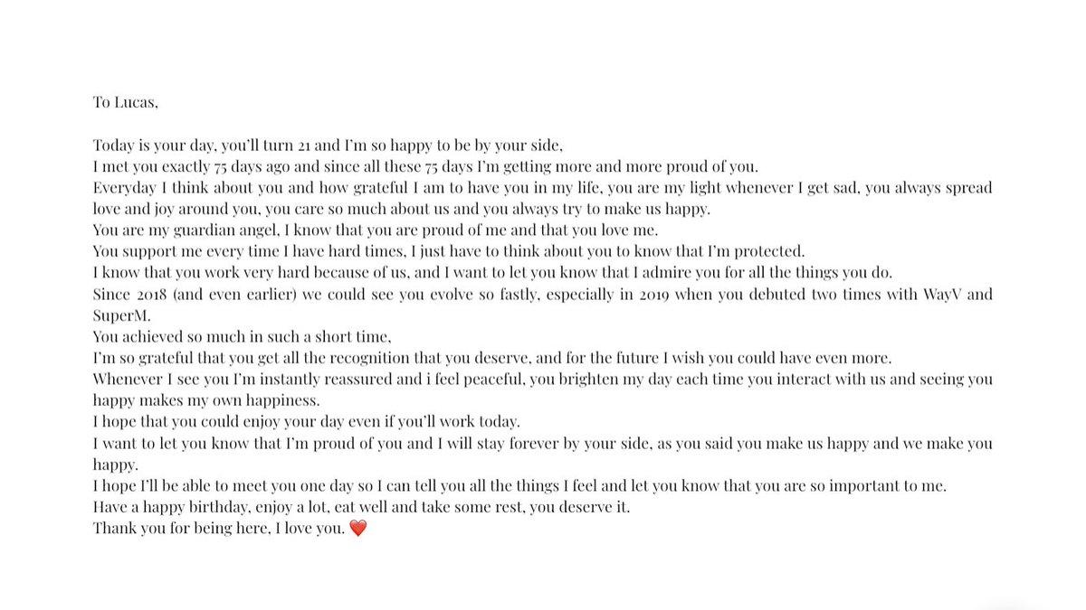 RT @fluffyxuxi_: I love you so much... ❤️#HappyLucasDay #黄旭熙0125生日快乐 #OurSunshineLucas https://t.co/em8DLYqGvY