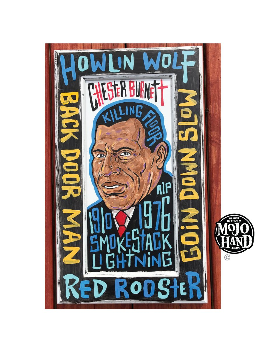 I just finished a painting of Howlin Wolf last week - and I think his work with Sumlin at his side were his best recorded moments... 2 geniuses at work.