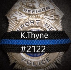 Our deepest sympathy to @NewportNewsPD & the family of Officer K. Thyne. #NeverForget #RIP #ServiceandSacrifice