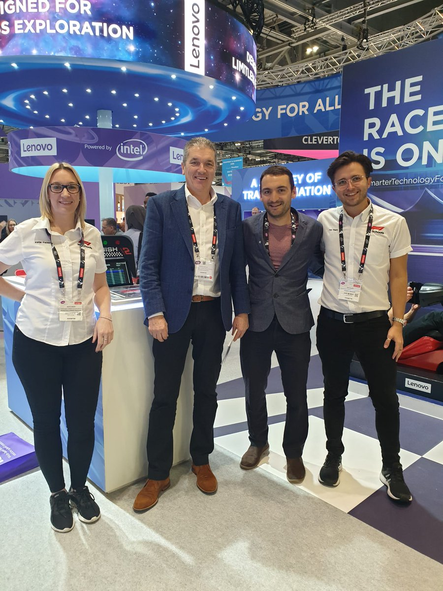 Great to talk to Andrew Denford @denfordf1 and the F1 in schools team  @F1inSchoolsHQ at the @Bett_show.   F1 in schools is an amazing competition can't wait to get @BeauSoleil_ch involved.  #F1 #f1inschools #STEMeducation #Bett2020 #edtech #education #creativity @Bett_show
