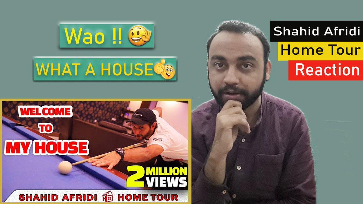 Reaction on Shahid Afridi Home Tour youtube.com/watch?v=fU7wIR… #AusOpen #Reaction #youtubechannel #PakistanZindabad #EairAndHonestSid #TrueBasics #SorosLies #Millman #youtubeisoverparty #Malik #Reactionbyutban #widepictures