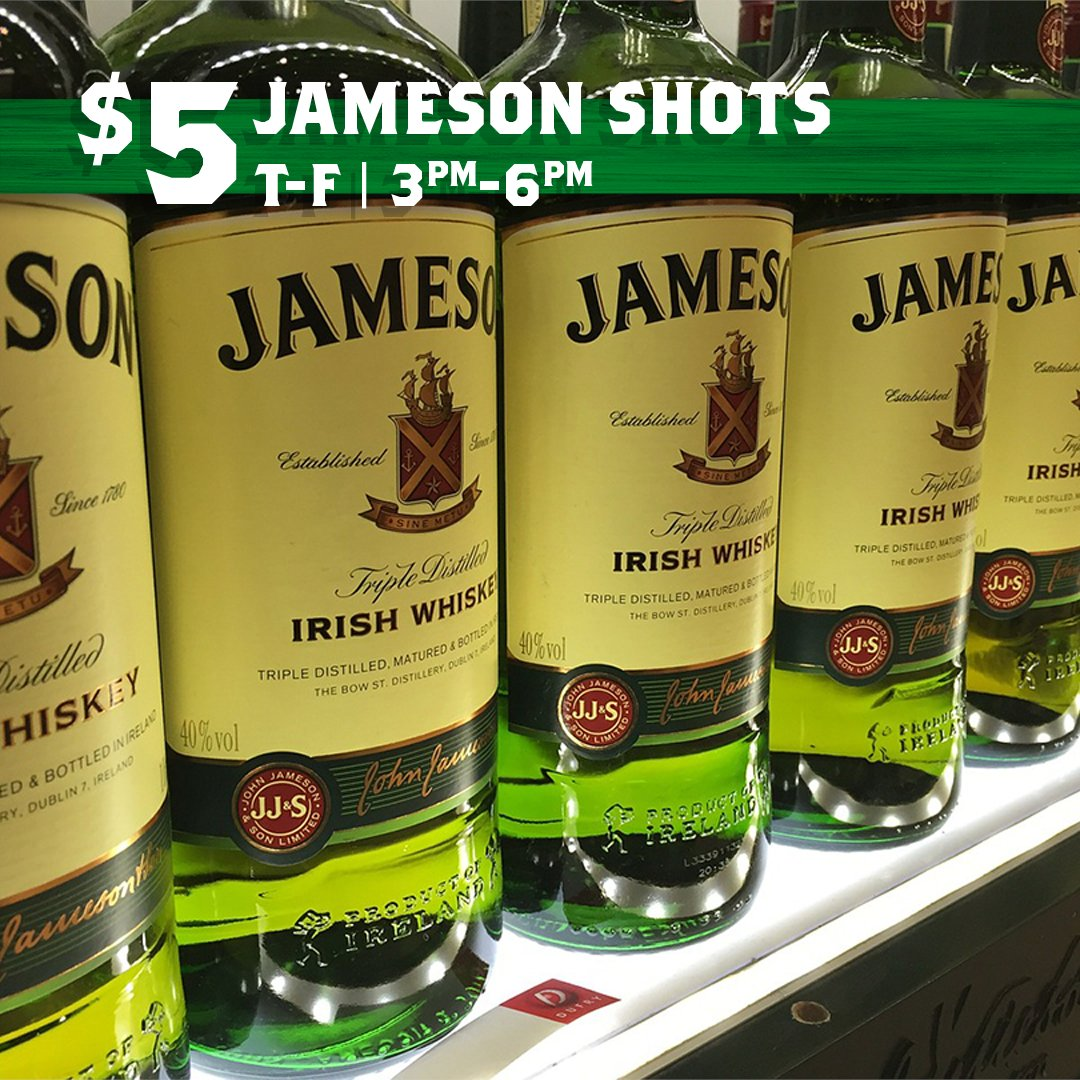 Looking for one of the best happy hours in O'Fallon? Stop at this post. Our $5 Jameson shots will have you trying out your best Irish accent in no time. #shots #jameson #ofallon #happyhour #happy #irish