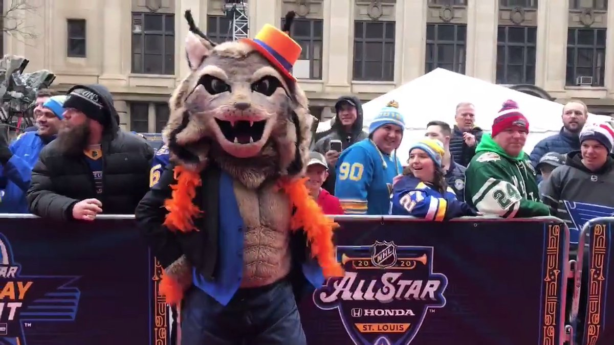 The Oilers Mascot May Have Watched Magic Mike One Too Many Times