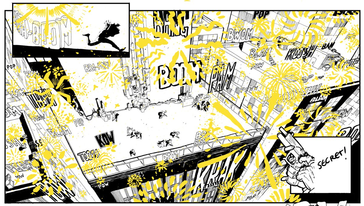 I think it's safe to say this is the most complex thing I've attempted in a book. #comics #art #drawing #makecomics <br>http://pic.twitter.com/fn3AvywWGp