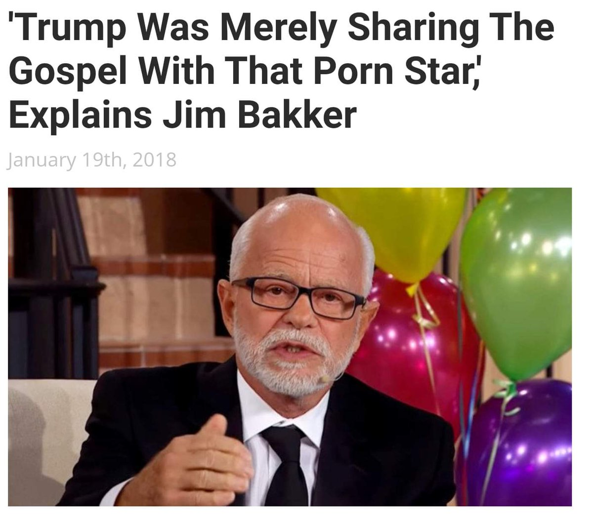 Right...   Trump was merely sharing the gospel with that porn star explains Jim Bakker <br>http://pic.twitter.com/PpfiOTAxvv