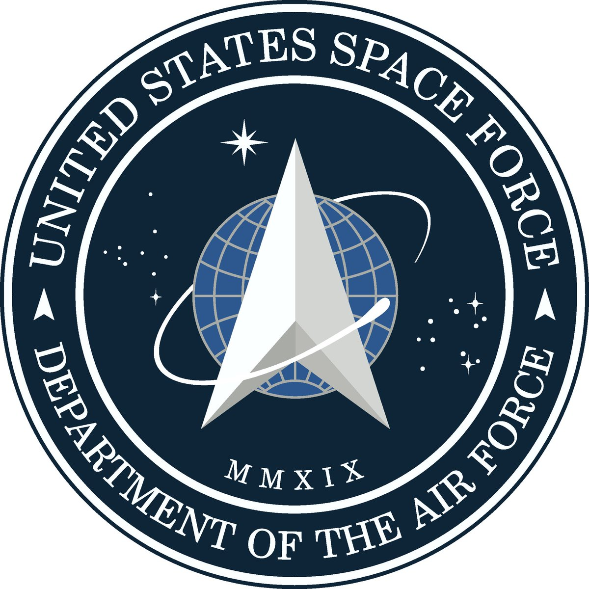 Space Force logo and its two main influences.