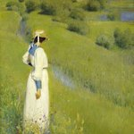 Image for the Tweet beginning: Richard Riemerschmid, In the Countryside,
