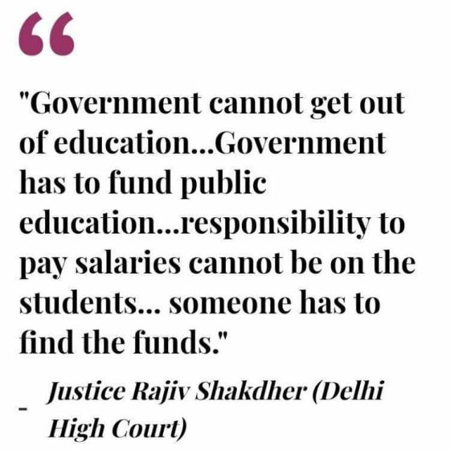 The core idea of public education is to ensure affordability and accessibility for all. It is incredible that the VC and Government Need to be reminded of this basic fact by the Court. #FeesMustFall  #VCHatao<br>http://pic.twitter.com/g9UeCQMpcX