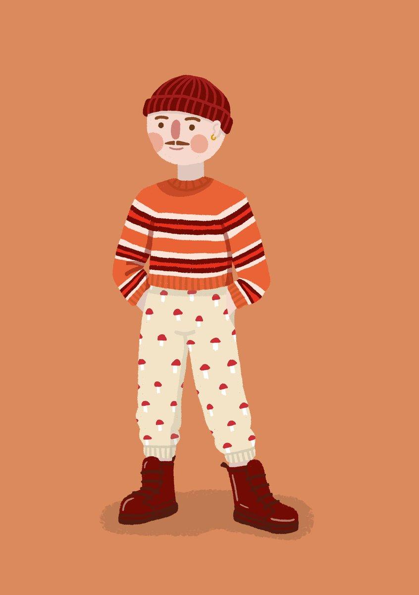 An autumnal hipster #mushroomtrousers #burgundyboots #outfitillustration #characterillustration #illustratorpic.twitter.com/rODqUxlbXZ
