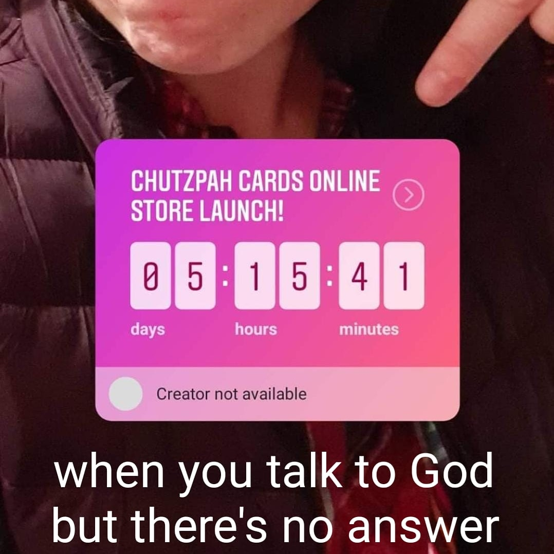 Please leave a message after you atone. . . . . . . . . #chutzpahmemes #chutzpahcards #thesedergame #chutzpah #chutzpa #jewishjokes #jewishhumor #jewishmemes #jewishholidays #jews #religion #religionmemes #punspic.twitter.com/PVINl7Fp2M