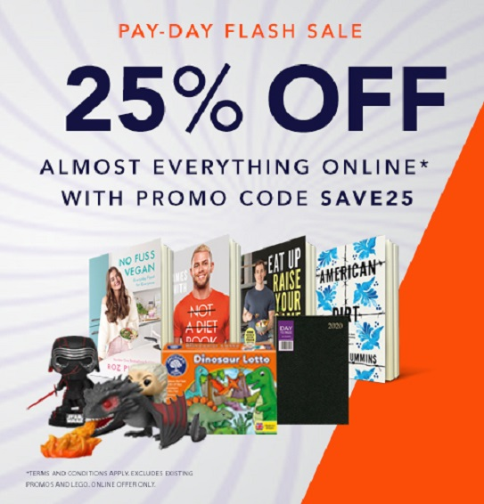 Our Flash Sale continues ONLINE this weekend. We are offering you 25% off almost EVERYTHING* online until midnight Sunday. Check out all the offers here ---> bit.ly/2viOVUh #Sales #offers #payday *ts&cs apply. Online offer only.Excludes already discounted items.