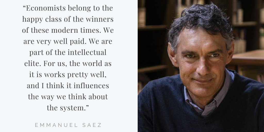 Does the fact that many high-profile economists belong to the top one percent influence their perspective on issues like taxation and inequality? Emmanuel Saez discusses his work with @gabriel_zucman.    https:// promarket.org/emmanuel-saez- saying-inequality-has-not-increased-in-the-us-the-equivalent-of-being-a-climate-change-denier/  … <br>http://pic.twitter.com/Hux8BwLMlC