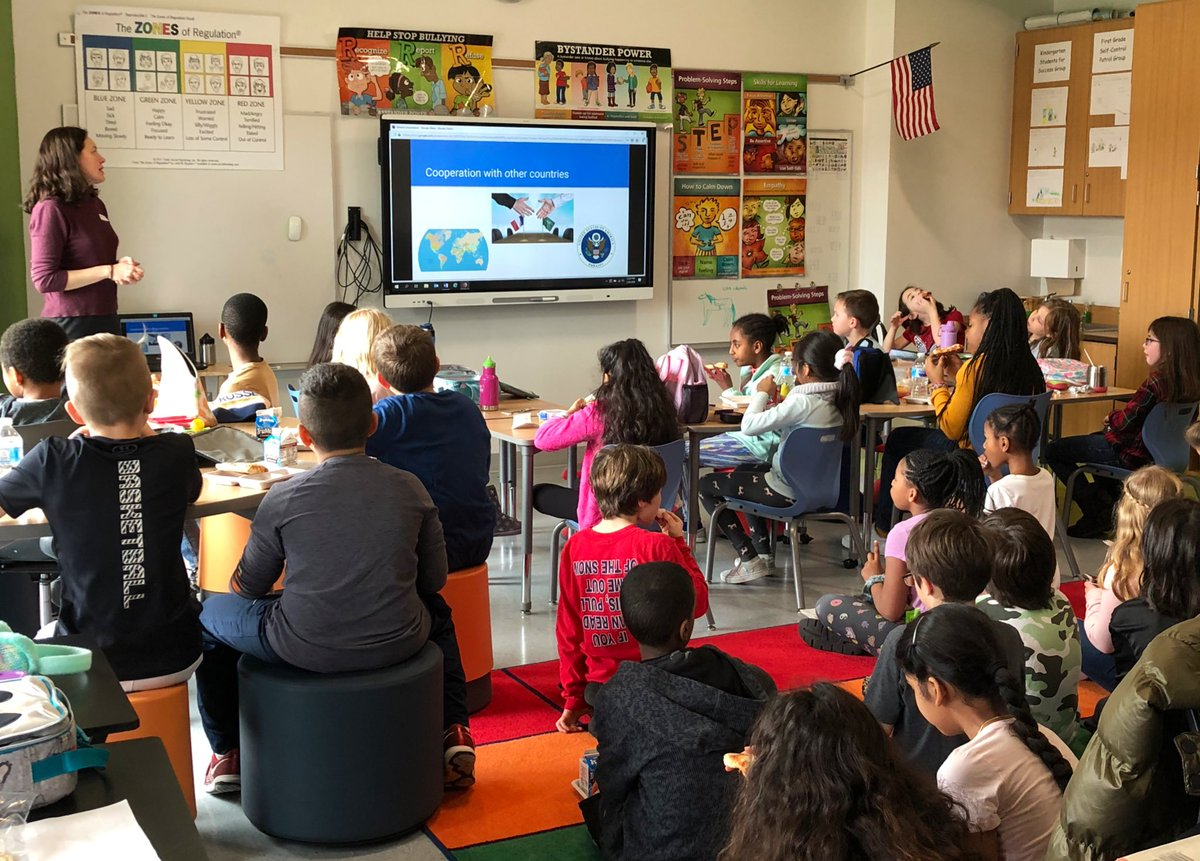 Special Thank You to our guest presenter, Ms. Bruchon - Fleet's Career Cafe today Ss learn all about being a Diplomat! <a target='_blank' href='http://search.twitter.com/search?q=FleetES'><a target='_blank' href='https://twitter.com/hashtag/FleetES?src=hash'>#FleetES</a></a> <a target='_blank' href='http://twitter.com/Principal_Fleet'>@Principal_Fleet</a> <a target='_blank' href='http://twitter.com/Fleet_AP'>@Fleet_AP</a> <a target='_blank' href='http://twitter.com/APSFleetPTA'>@APSFleetPTA</a> <a target='_blank' href='http://twitter.com/APSVirginia'>@APSVirginia</a> <a target='_blank' href='https://t.co/LVY38yp0YM'>https://t.co/LVY38yp0YM</a>