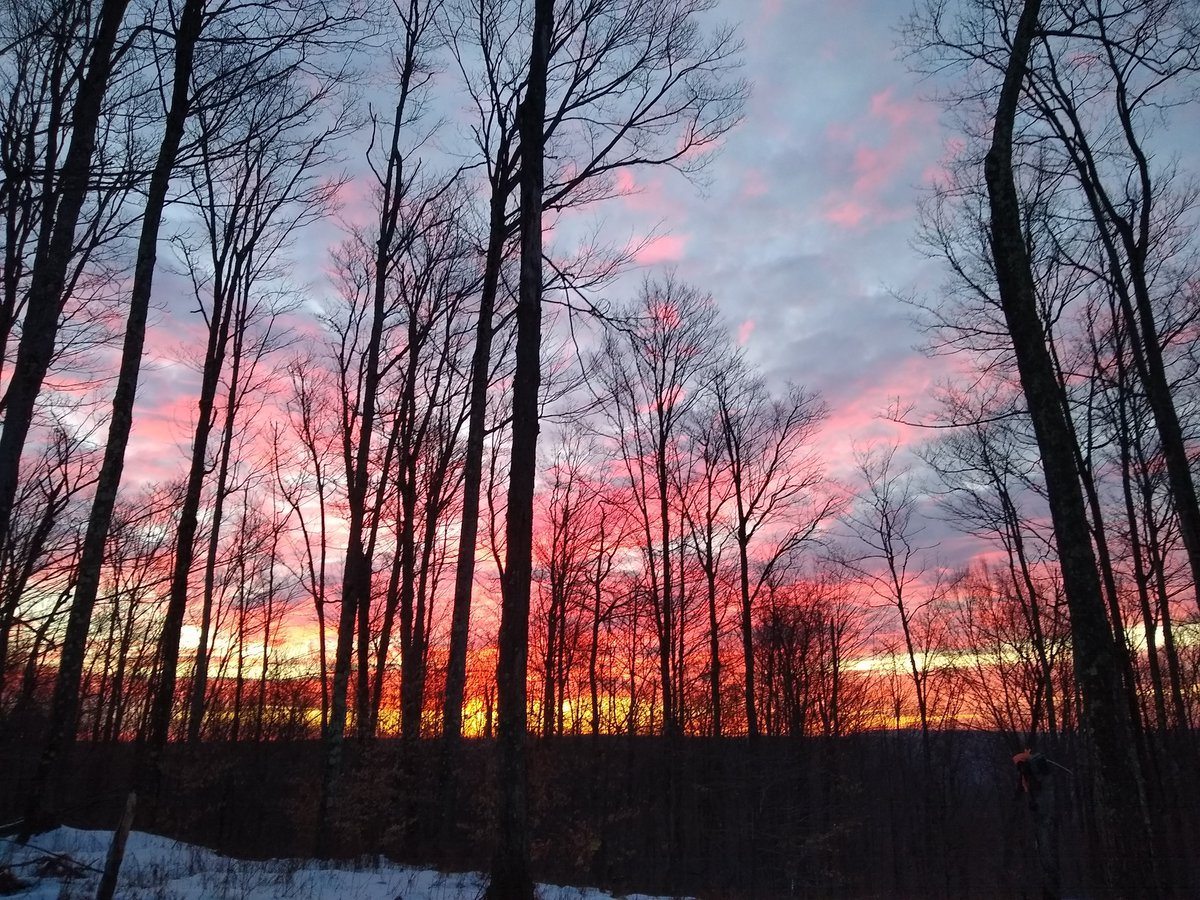 Thank you Monica Mintz for sending in this morning's sunrise from Coudersport, PA😎 #4WarnWeather
