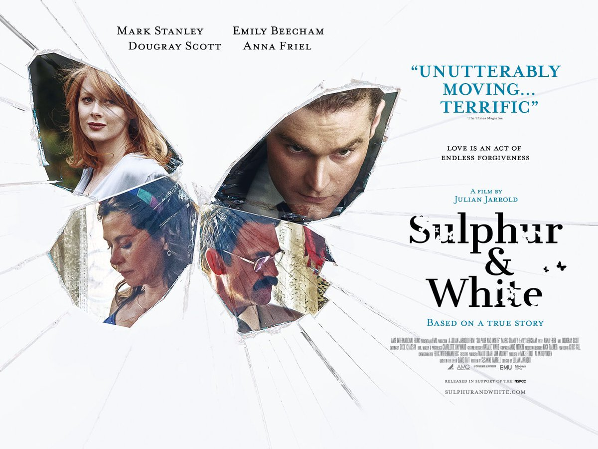 Based on the true story of financial trader David Tait #SulphurAndWhite tells the profound story of how love can heal even the deepest of wounds. Don't miss @MarkStanley12, @emilybeecham, @annafriel, @dougrayScott, @alistairpetrie & @Rosiemae on release 6 March.pic.twitter.com/f54rEo3dBC