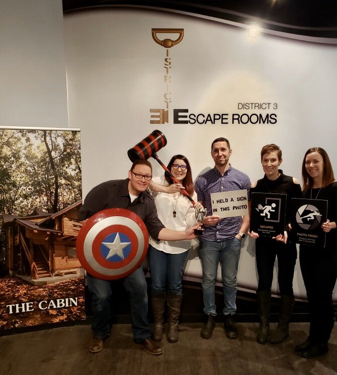 """""""Kim and Friends"""" scores a close call victory escape out of the Cabin!  76 points, 58:43, 2 achievements   #kim #friends"""