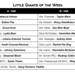 Image for the Tweet beginning: Congratulations to our Little Giants