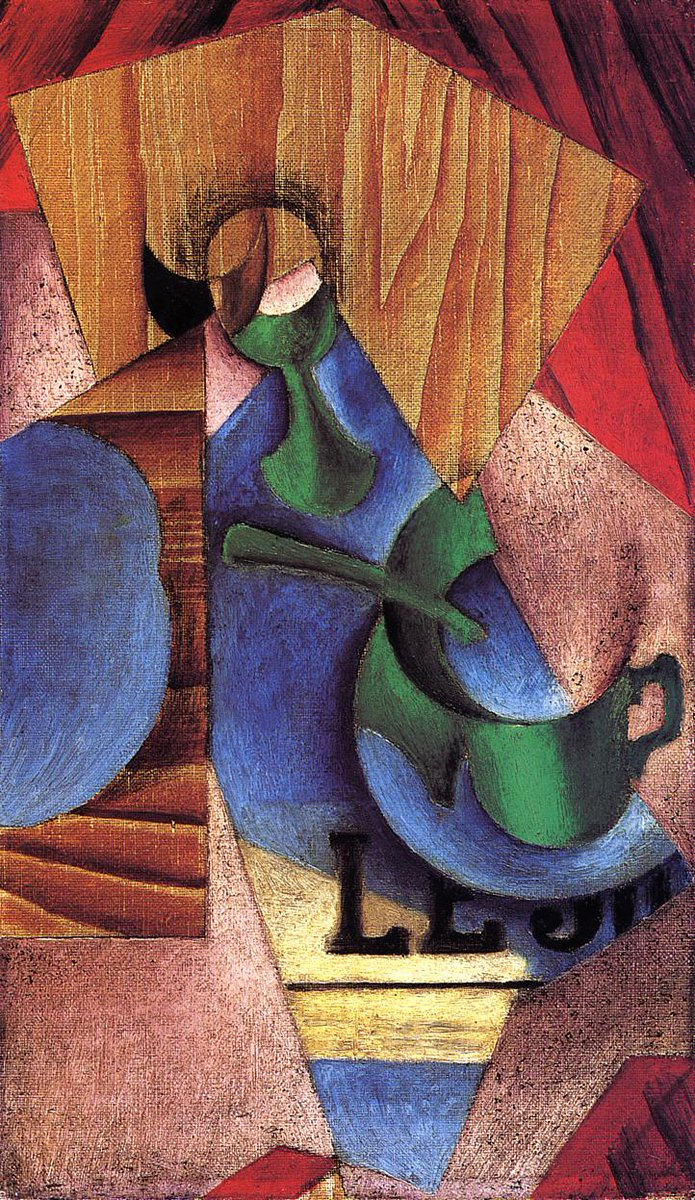 Glass, Cup and Newspaper, 1913 #juangris #syntheticcubism<br>http://pic.twitter.com/HhKH9n67tc