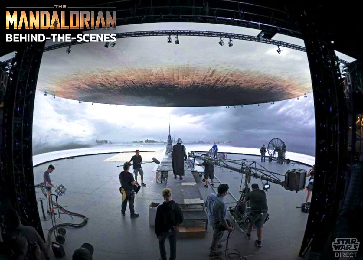 New behind-the-scenes images from #TheMandalorian show the indoor sets that were used for outdoor scenes!