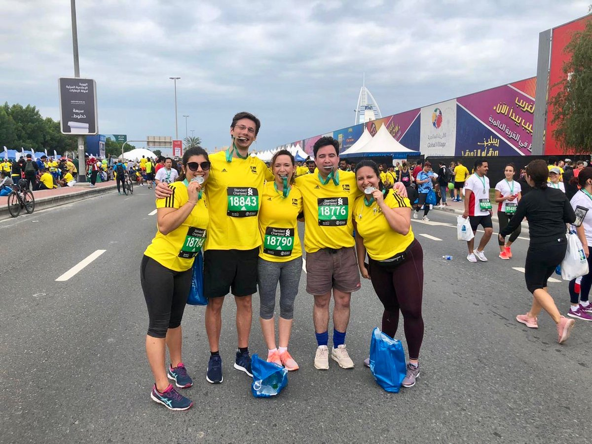 Congratulations to our MENA team who did the @standardchartered 10K #RoadRace today. Proud of them for stepping up to the challenge! Here's the before and after (with medals)! #DubaiMarathon #Communications #Fitness #Fit #run #health #Dubai #DXB #MyDubai #train #fitspo #marathon<br>http://pic.twitter.com/fG4AeNB8Fy