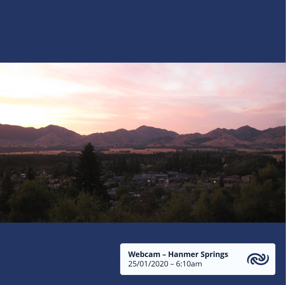 Another mainly settled day ahead for New Zealand. A front brings wet weather to the far south and the west coast of the South Island. Although, there are areas of morning cloud across the country, in this case in Hanmer Springs it makes for a great sunrise shot. ^KL https://t.co/TpQmcWExif