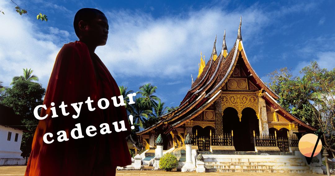 Met de fiets of per tuktuk door de stad Luang Prabang? Je krijgt het nu cadeau bij je Laos reis: http://vanverre.nl/laos.....#azie #laos #luangprabang #citytour #cadeau #fietsen #tuktuk #tempels #monniken #gratis #laosreis #verrereis #vanverre #vanverrereizen