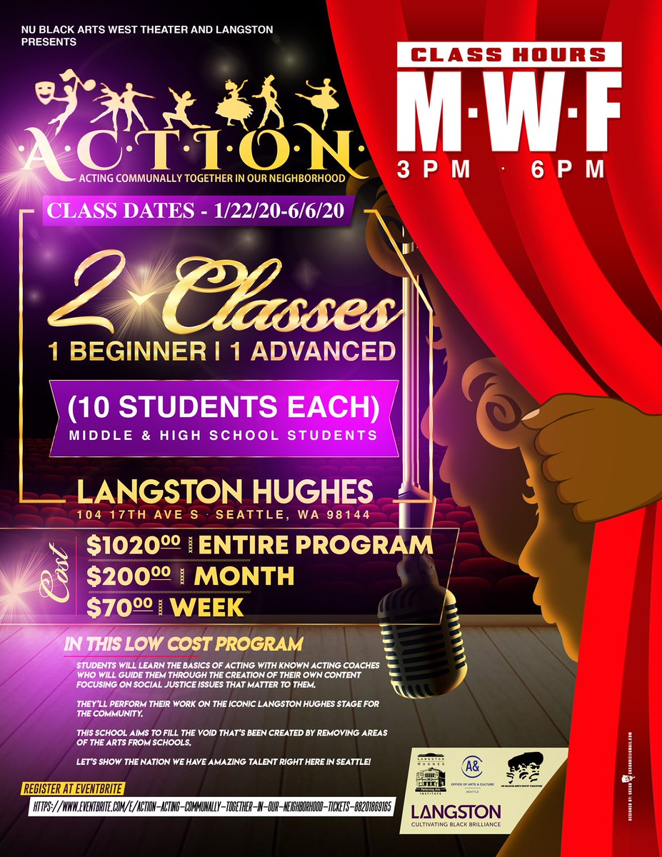 Is your child interested in acting classes? Check out ACTION at Langston Hughes. ow.ly/832150xTwOH