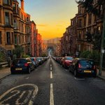 Image for the Tweet beginning: Glasgow at sunset, isn't it