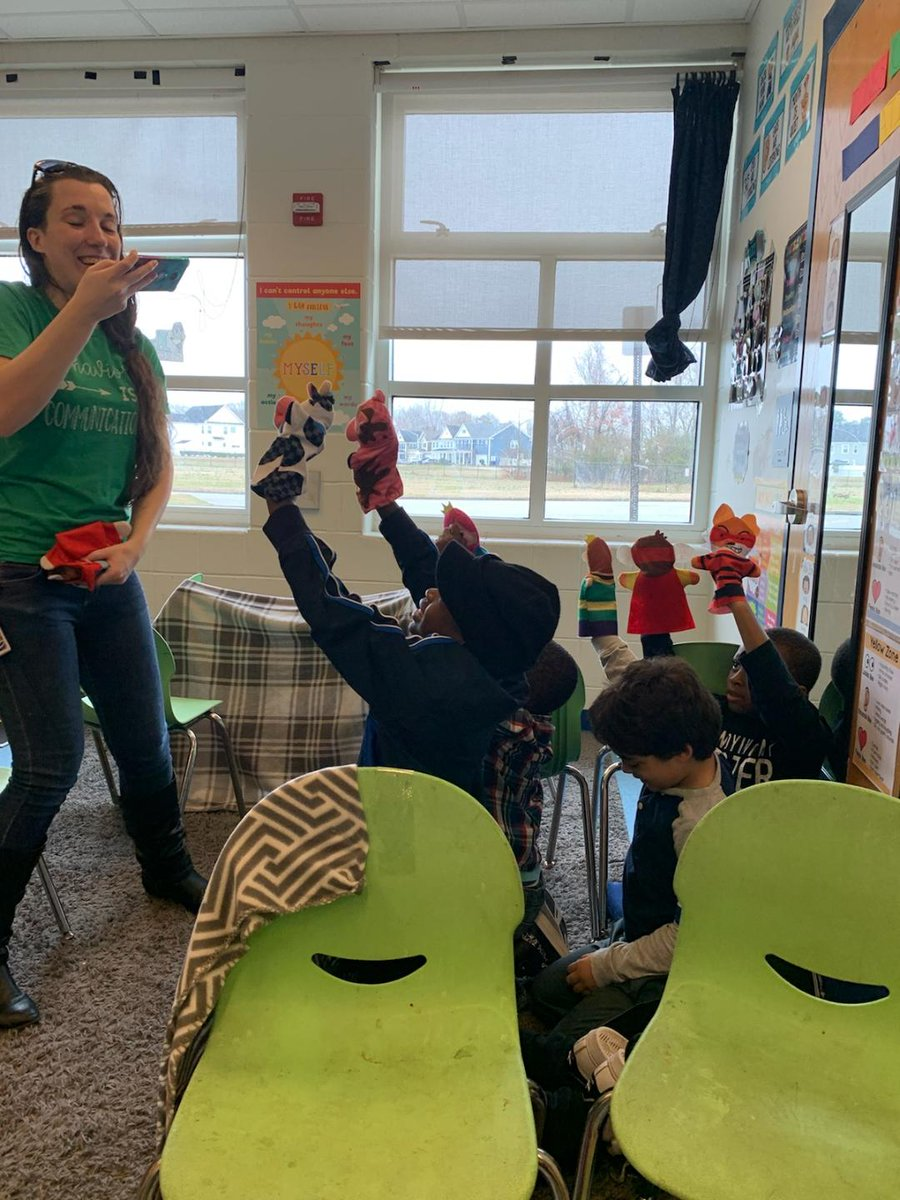 When doing a play was requested, we had to do a puppet show! They had a blast! #hesteach