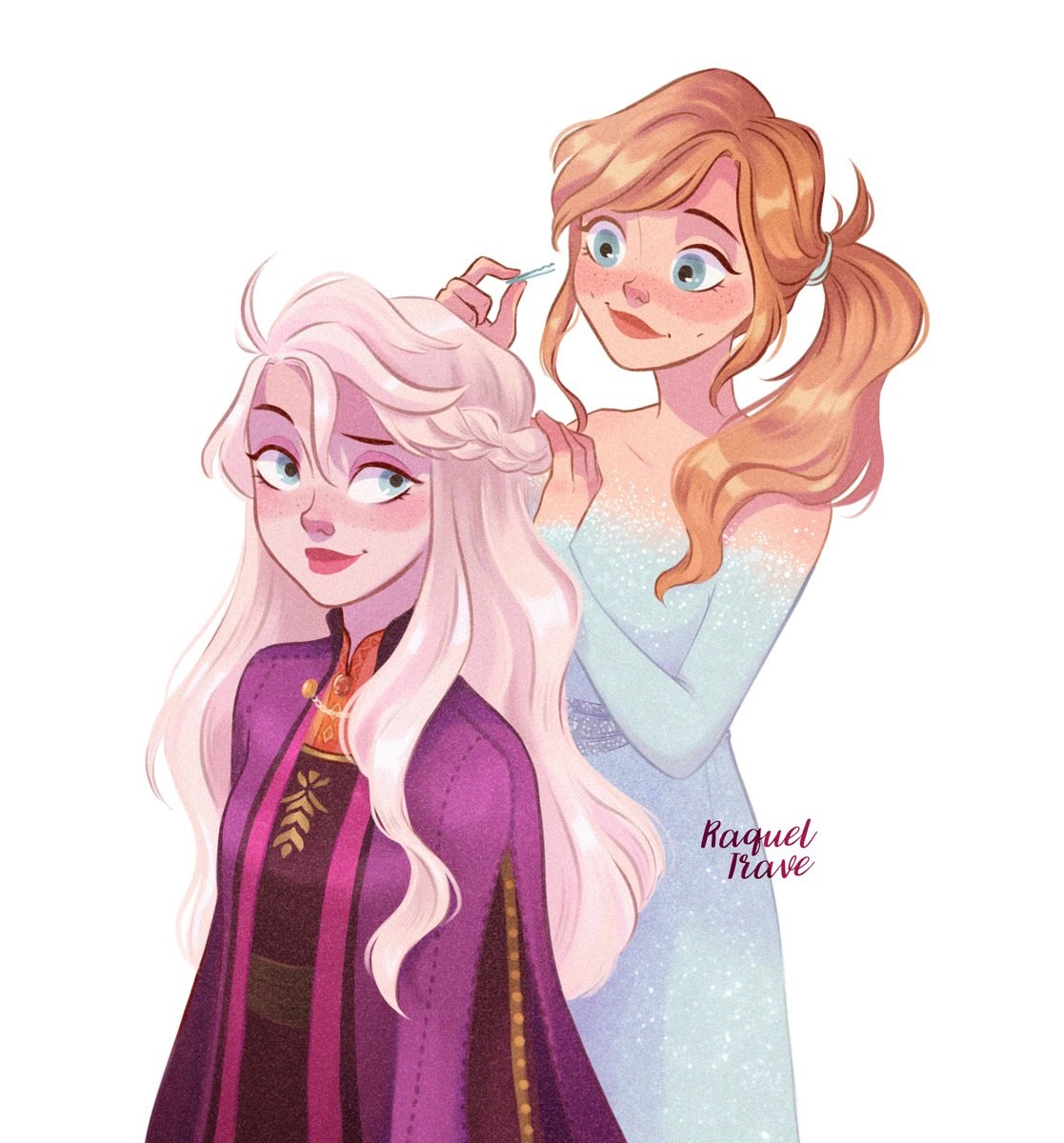 Elsa and Anna switching outfits  #frozen2  <br>http://pic.twitter.com/RL4799xGdI