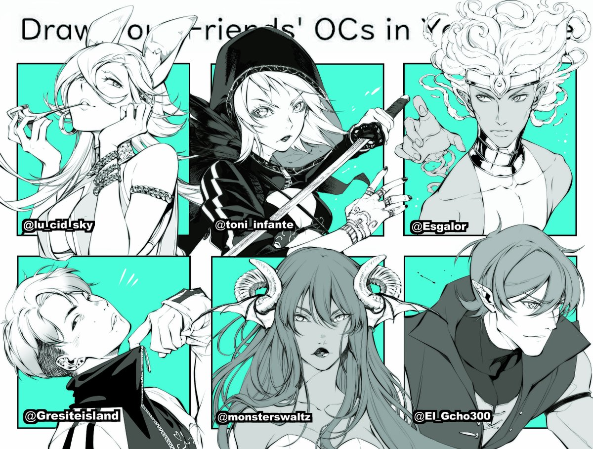 """""""Draw your friend's ocs in your style"""" meme # Part 2  Finally I had time for finish it, I loved draw this (/¡w¡)/ ! ! !"""