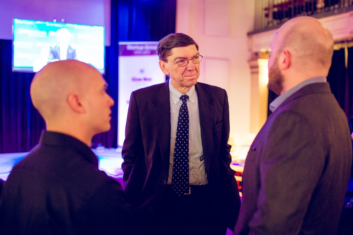 """There is a saying that you should """"never meet your heroes."""" I've found this is true basically for everyone except @claychristensen. One of kindest, most humble, and most brilliant people I've met. @StartupGrind likely never have become anything meaningful without his help. RIP. https://t.co/WEfUTIjgyC"""