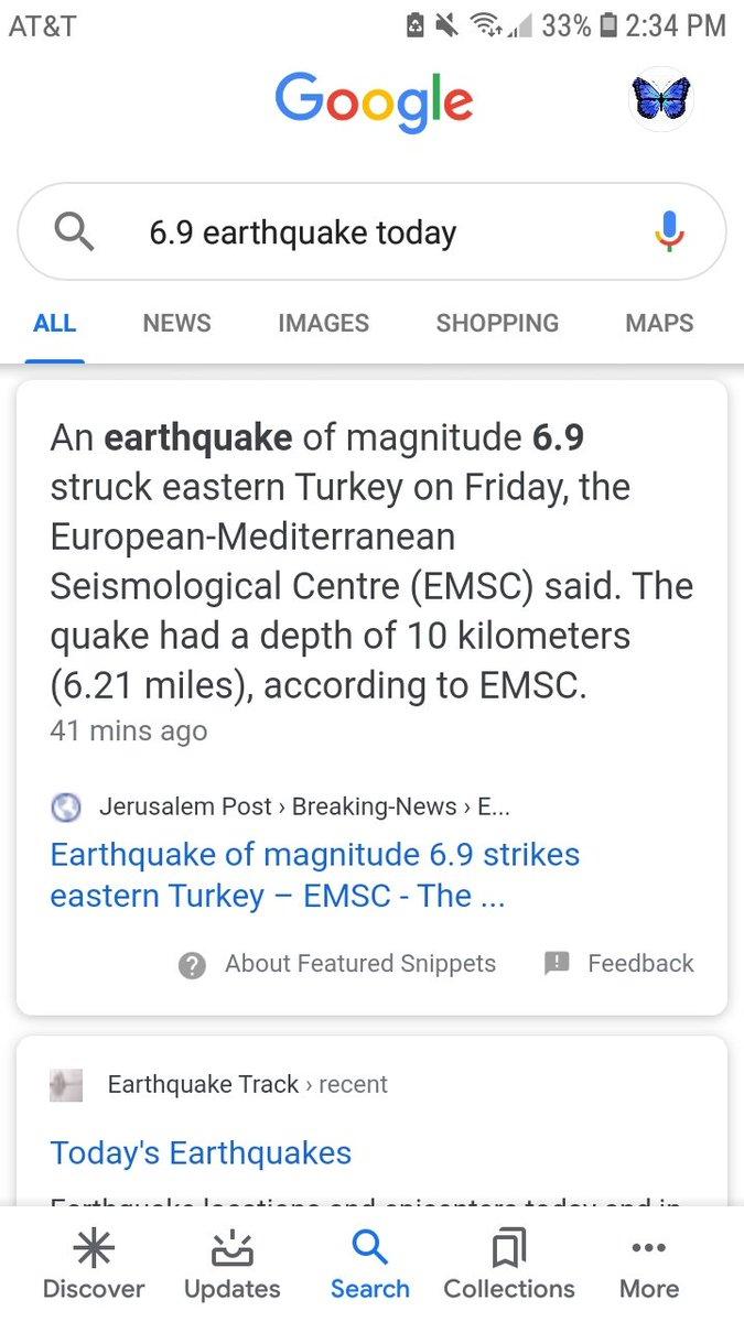 6.9 EQ Strikes Eastern Turkey. #2020BlueTeam #BREAKING