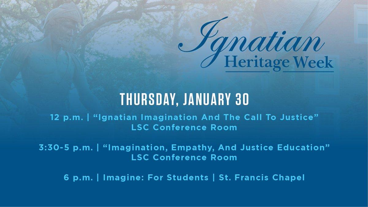 Imagination is the theme for today's Ignatian Heritage Week events. go.jcu.edu/ignatianherita…