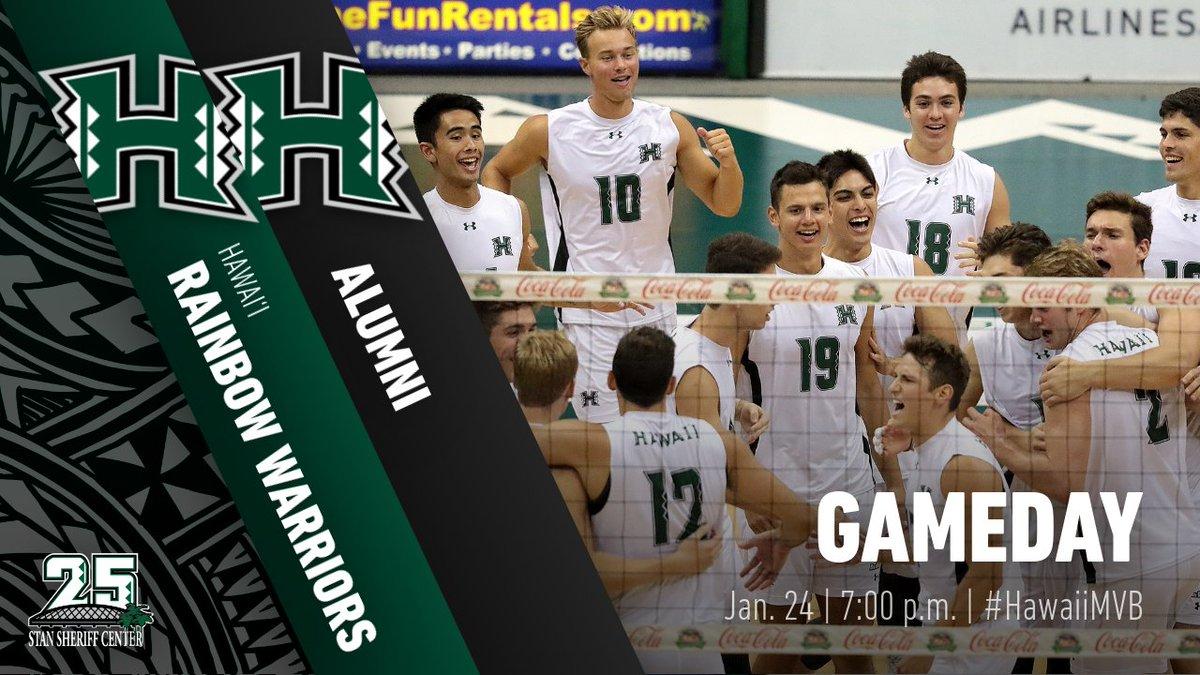 🏐 No.1 #HawaiiMVB vs. Alumni 🕖: 7:00 pm HT  📍: Stan Sheriff Center 🎟: FREE
