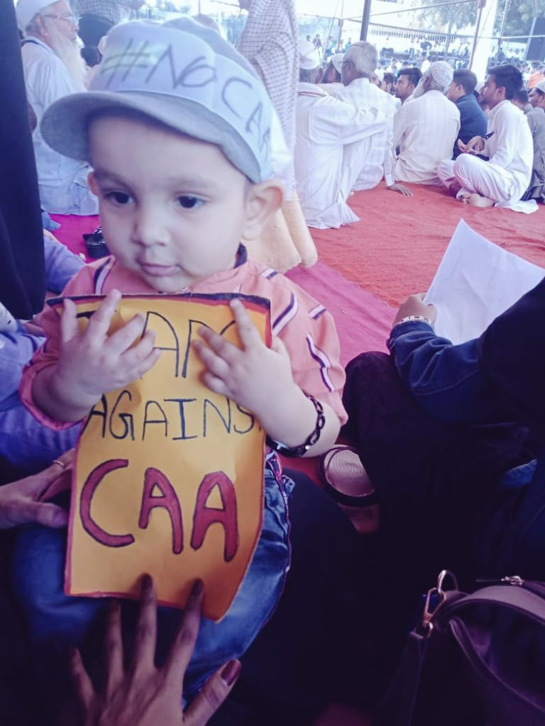 @AmitV_Deshmukh Remember the thing that uh hv guaranteed us today during #NRC_CAA_Protests at Latur #Shaheen_Bagh, even this little heart(My Nephew)has heard this thing,We hope uh will hear us a good news very soon,OW we r preparing our generation to fight this Hindutva facsism