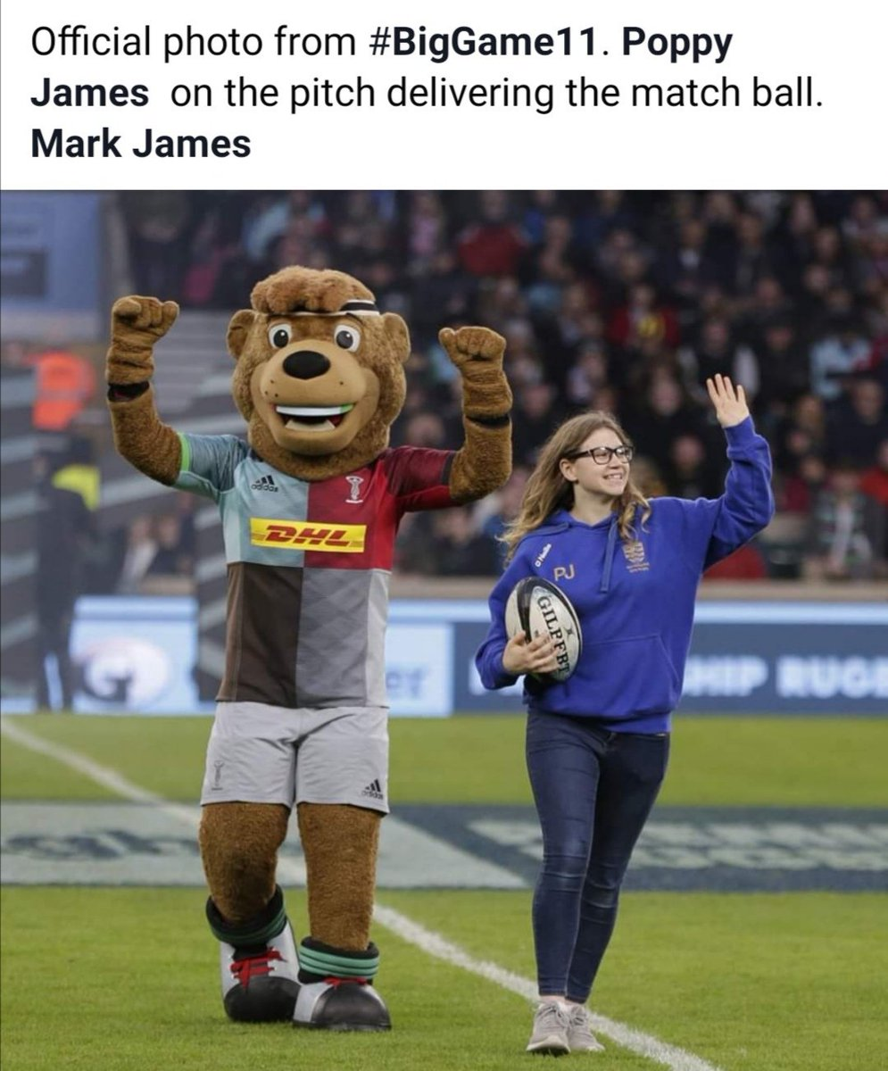 Throw back to one year ago today! My mum's Facebook page 😂 #proudparent @Harlequins
