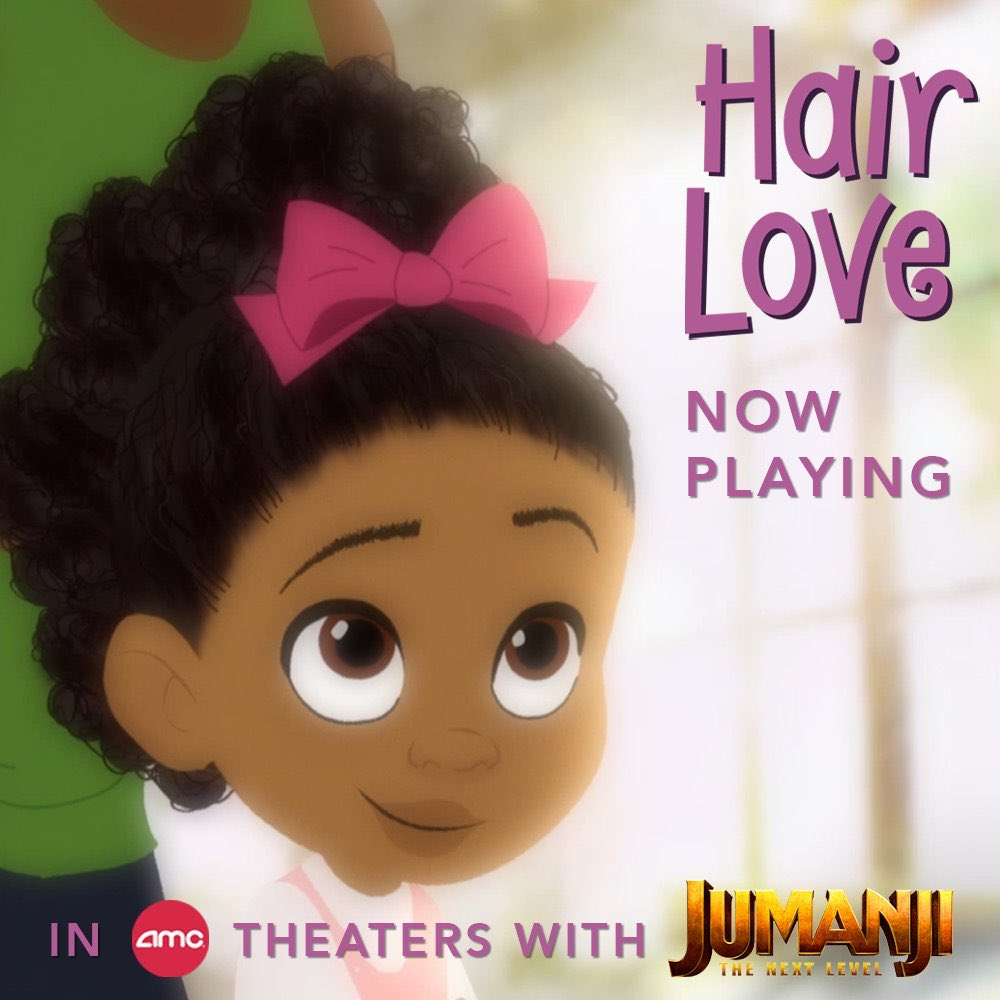 Happy to announce that #HairLove is back in select theaters in the US and Canada playing in front of #Jumanji : The Next Level.<br>http://pic.twitter.com/jFWHyJi7KG