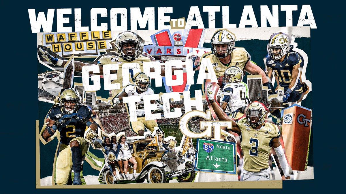 WELCOME to 🅰️TLANT🅰️!!! @GeorgiaTechFB @CoachCollins 🏆🏆🏆🏆 #404theCULTURE