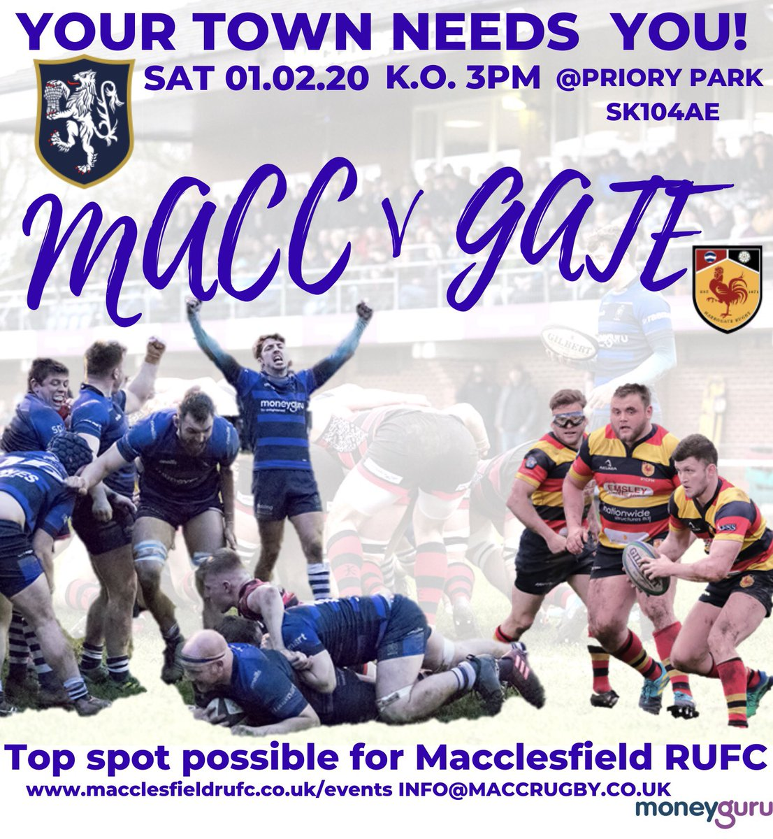 test Twitter Media - @Harrogate_Rugby comes to Priory Park 🗓01.02.20 ⏰3PM K.O The Club calls out for the support of members & community to get behind lads!  VISITORS WITH A MEMBER £5 MACC SPORTS CLUB MEMBERS & MACC TOWN TICKET HOLDERS £5 Membership Card or S Tickets MEM £5, NON MEM £10 U16S GO Free https://t.co/nF2Kd8n8yo
