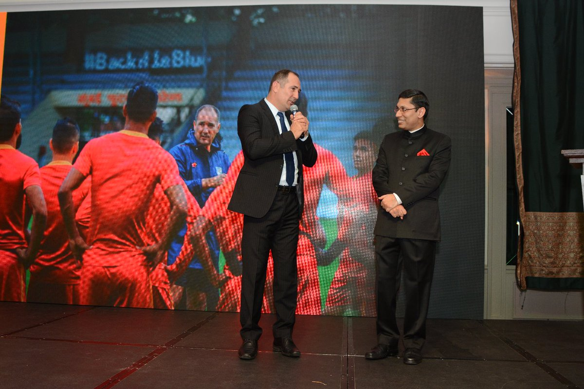 Highlights of today's National Day Reception included guest appearance by Mr. Igor Stimac, Croatian footballer and Head Coach of Indian Football Team as well as cultural performances of Bharatnatyam and Yoga. @MEAIndia @VikasSwarup @IndianDiplomacy @Media_SAI @IndianFootball