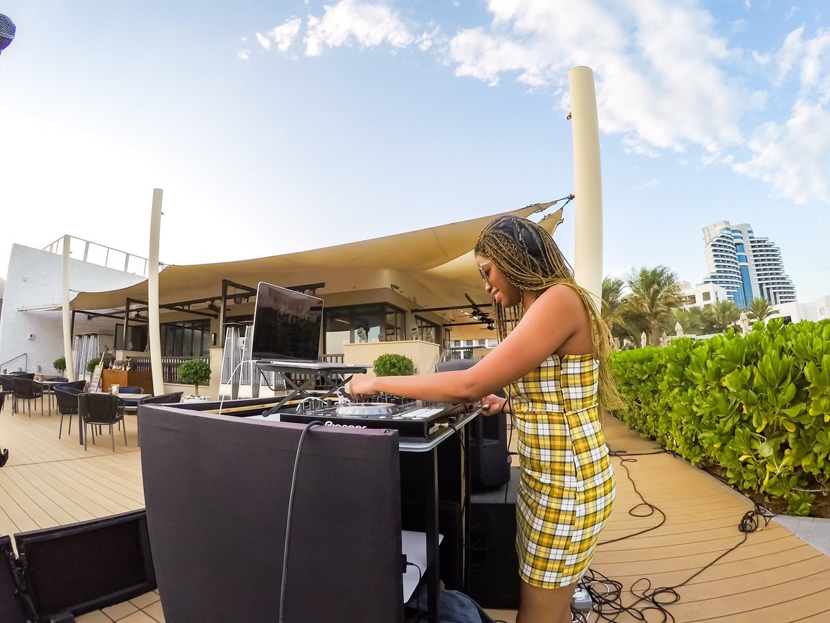 Sometimes there's no support system...It's just you and your grind. #djlife #femaledj