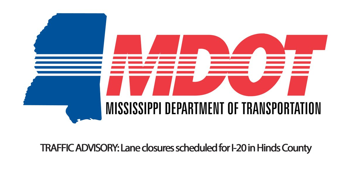 REMINDER❗️ Starting today, the inside lane of I-20 Eastbound and Westbound at Norrell Road in #HindsCounty will close for approximately 60 days.