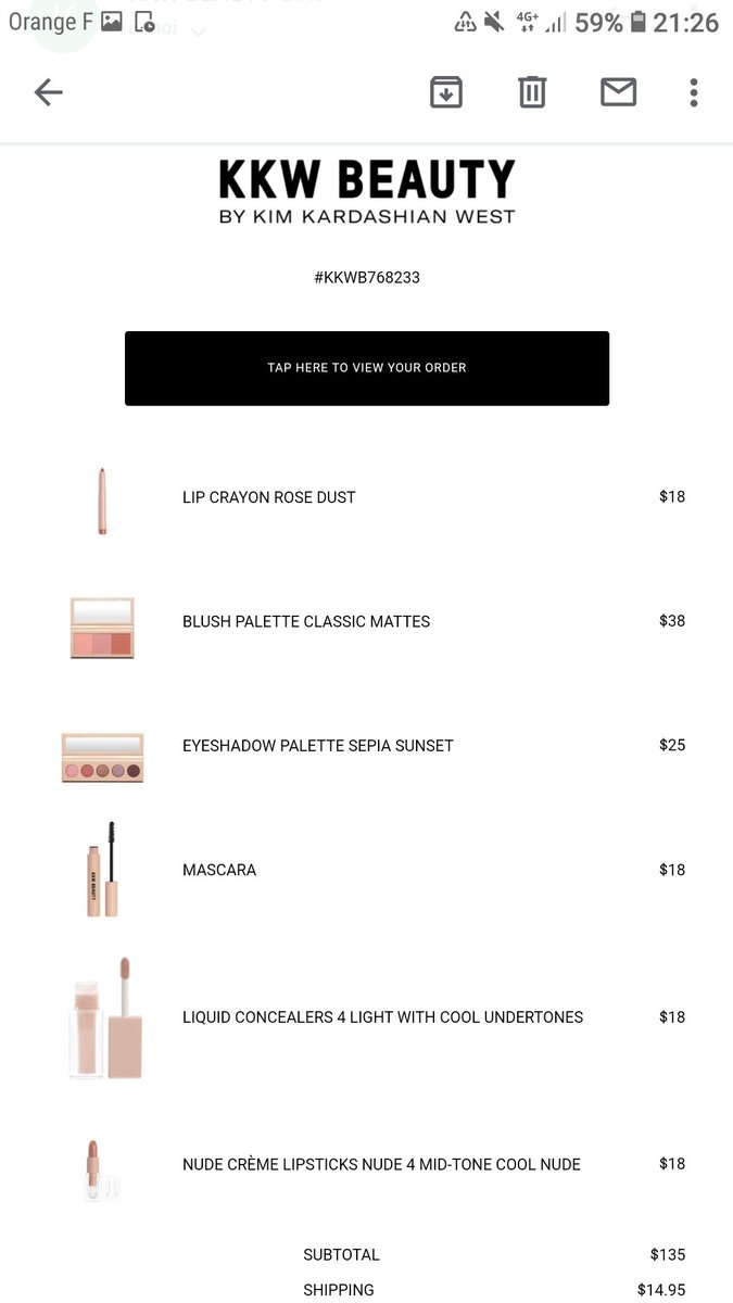 My first order to @kkwbeauty  !! So excited by this ethereal collection. Now I can finally try some of @KimKardashian  products. Cant wait!! 💜