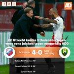 Afgelopen! FC Utrecht heeft geen kind aan ADO, dat er met 4-0 nog genadig vanaf komt #utrado  https://t.co/jMKSfvfWis